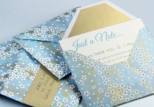 DIY: Custom Envelopes from Patterned Paper