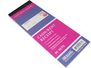 Bazic 50 Sets Cash/Rent Carbonless Receipt Book | General Goods Wholesale