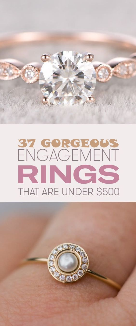 37 Gorgeous Engagement Rings Under $500 That'll Make Your Jaw Drop