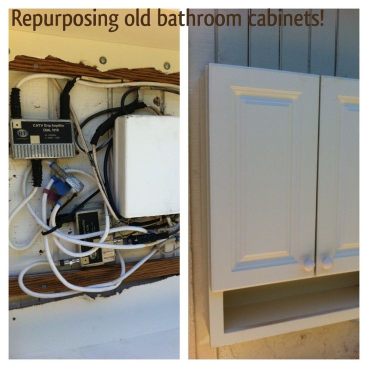 1000 images about wiring stuff cable backup repurposing using an old bathroom cabinet to hide ugly wiring