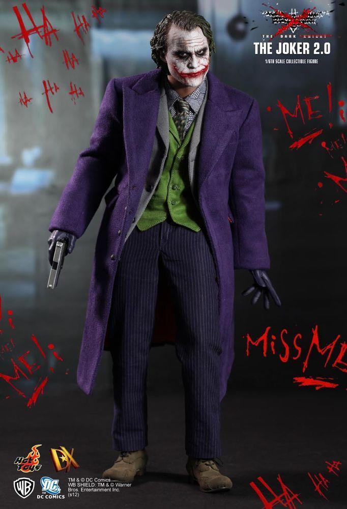 1 6 Hot Toys Dx11 Batman The Dark Knight The Joker 2 0 Masterpiece