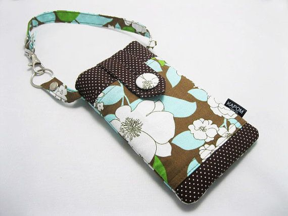 Fabric Phone pouch for iPhone 6, Amazon Fire Phone, Samsung Galaxy s5 by KapomCrafts