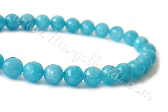 €11.80 1 Strand Sky Blue Quartz Faceted Round 10mm by Margelbeads on Etsy