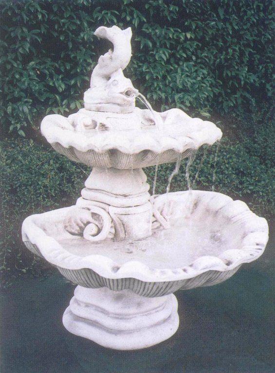 Fontana CONCHIGLIA in cemento - Cm 73x73x102H - arredogiardini.it