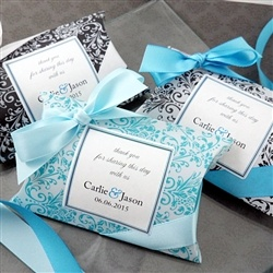 Damask Patterned Pillow Favor Box
