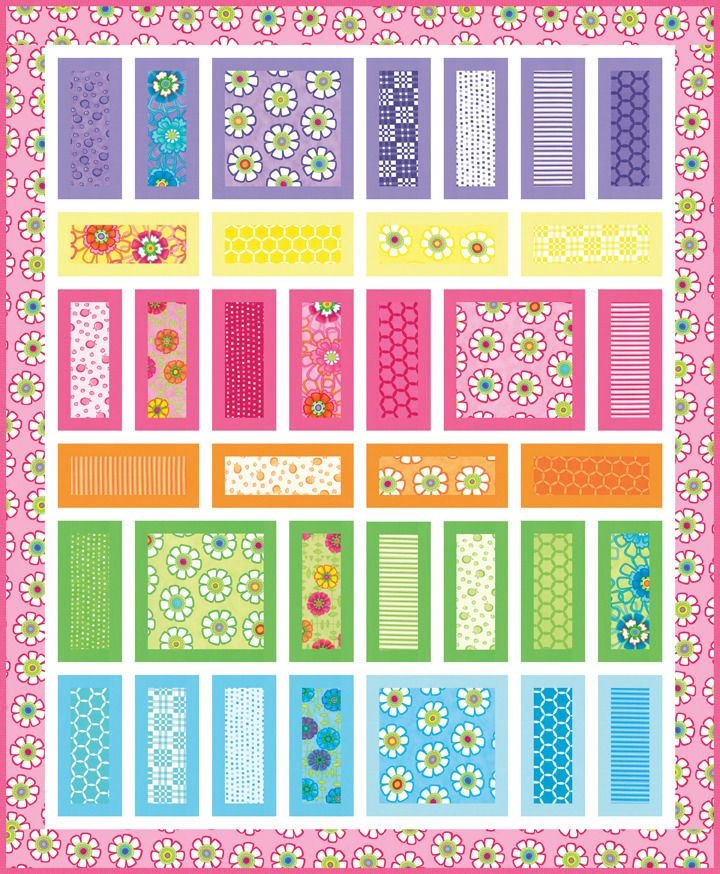 me and my sister quilt patterns | Image of Day Break PDF pattern