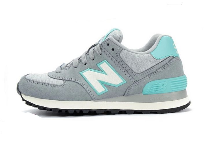 014 Women's New Balance 574 Running Shoes Grey / Blue Outlet ...