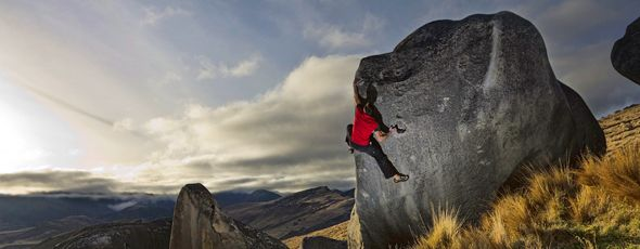 Rock Climbing in NZ has lots of variety.