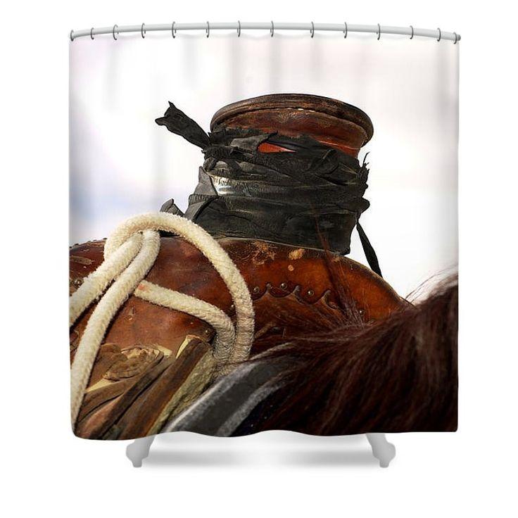 Open Range Roping Saddle Shower Curtain