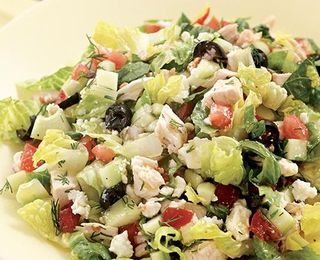 Chopped Greek Salad with Chicken - Low Carb