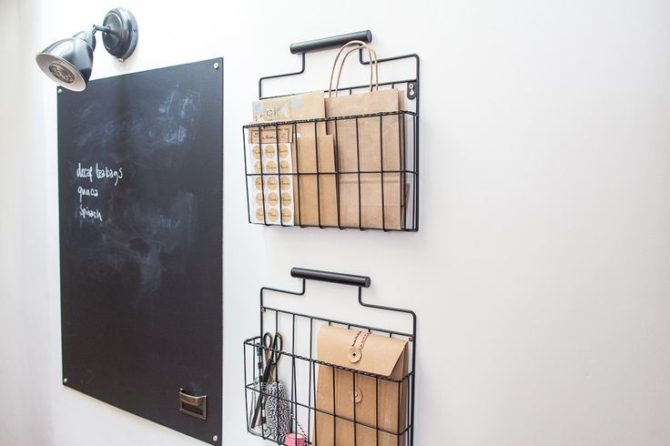 Organisation Station | Command Centre | Blackboard with organised wall wire baskets