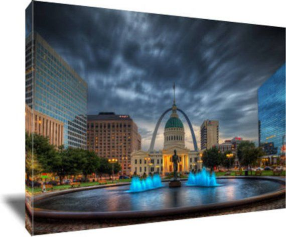 Keiner Plaza St Louis Skyline Photo Saint Louis Print Gateway