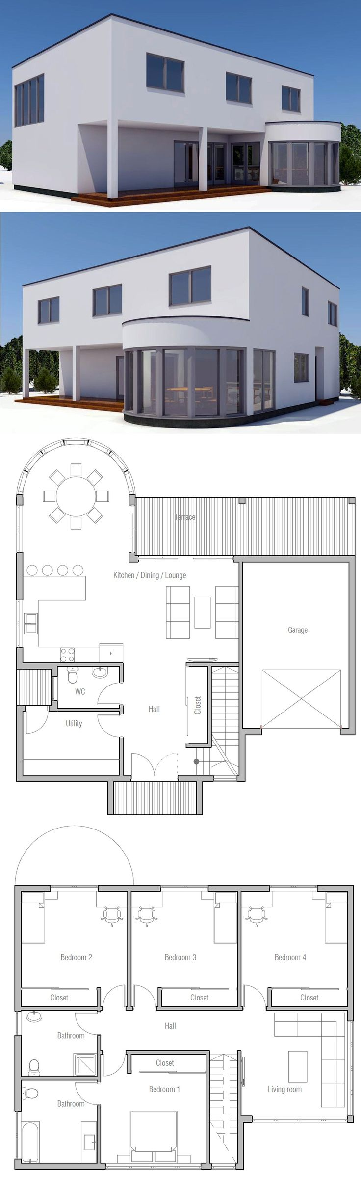 25 best ideas about modern home plans on pinterest modern floor plans house design and - Design house plan photos ...