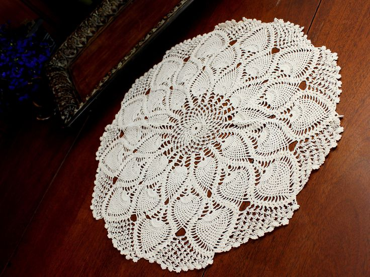 Light Ecru Doily, Vintage Crochet Doilies, Large Crocheted Doily, Exquisite Lacy Crochet Round in a lightweight yarn. This light and lacy addition to your doily collection is sure to please, it's crea