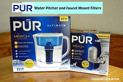 PUR Water Pitcher and Faucet Mount Filter Product Reviews  http://couponsavvysarah.blogspot.com/2015/06/pur-water-pitcher-and-faucet-mount.html