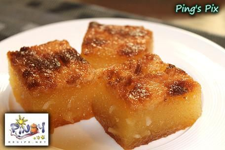 Cassava cake<3 My friends (Calderons) parents make this and its sooooo amazing!!!! I want to learn how to make this.