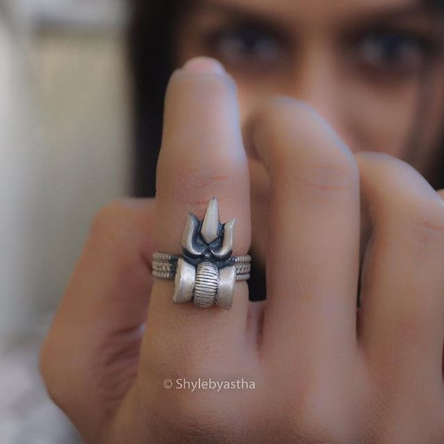 Lord Shiva This Trishul Damru Ring No Words Can Define The Idea