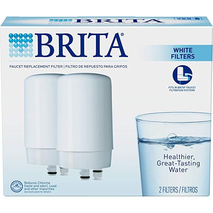 Brita On Tap Basic Water Faucet Filtration System Filter White 2 Pack Review Brita Tap Filtered Water Faucet Filters