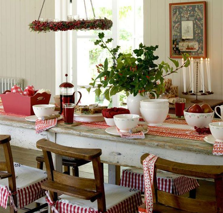 Country Christmas Dining Room Ideas