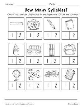 free printable syllable worksheets kindergarten 1000 ideas about syllables kindergarten on. Black Bedroom Furniture Sets. Home Design Ideas