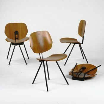 Osvaldo Borsani; S88 Folding Chair for Tecno, 1955.