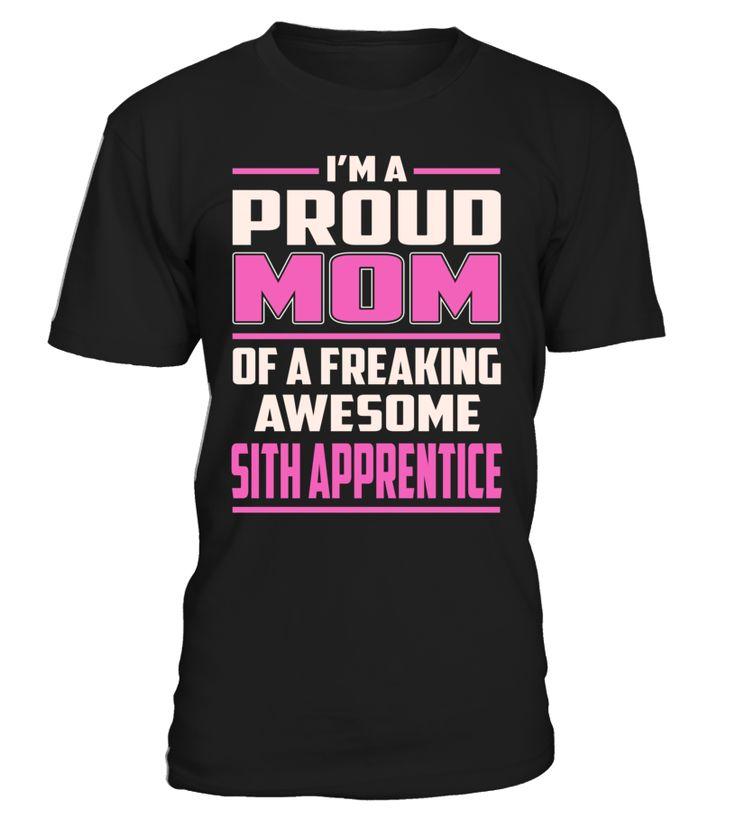 Sith Apprentice Proud MOM Job Title T-Shirt #SithApprentice