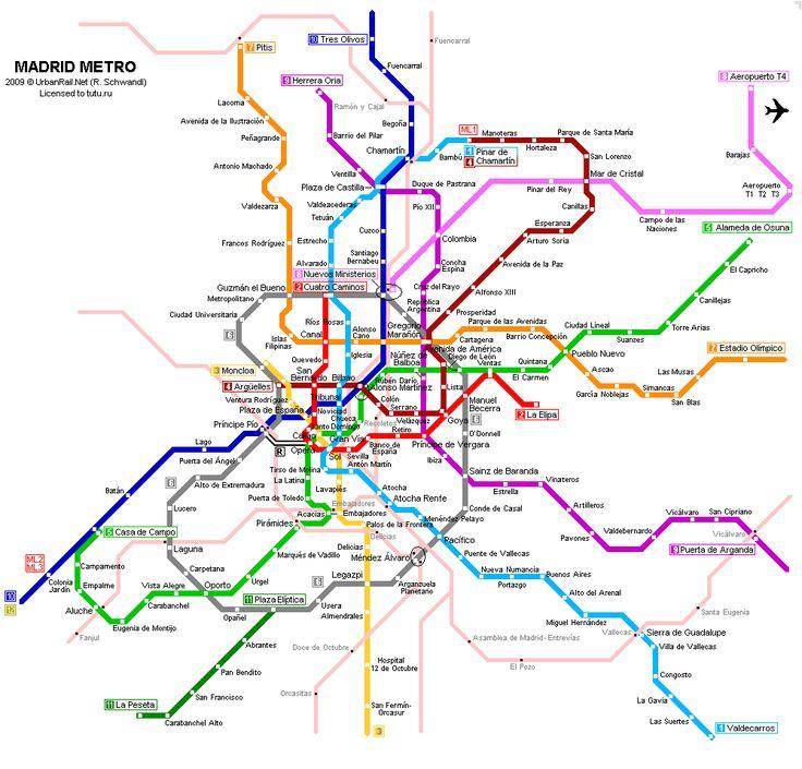 Karta Metro G Madrid Shema Metropolitena Madrid Madrid Karta