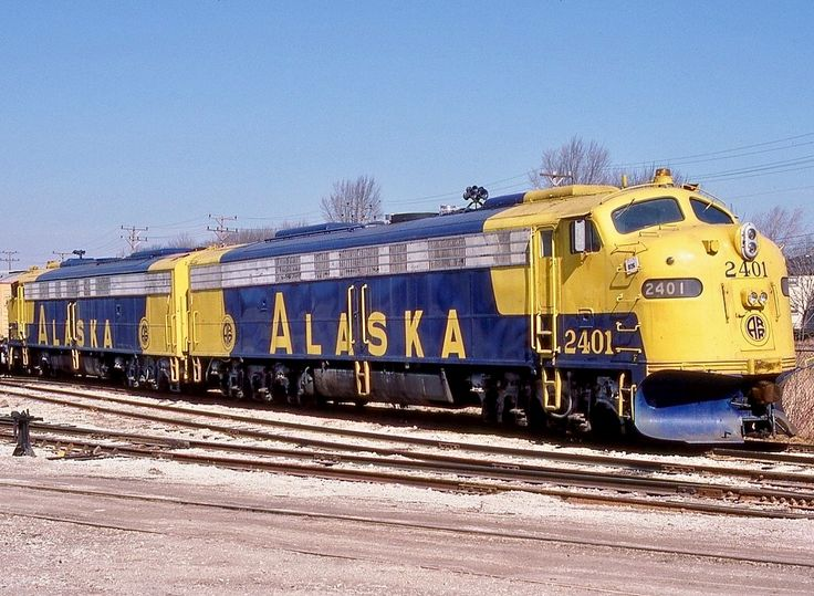 Alaska Railroad, EMD E9(A) diesel-electric passenger-train locomotive in Cudahy, Wisconsin, USA