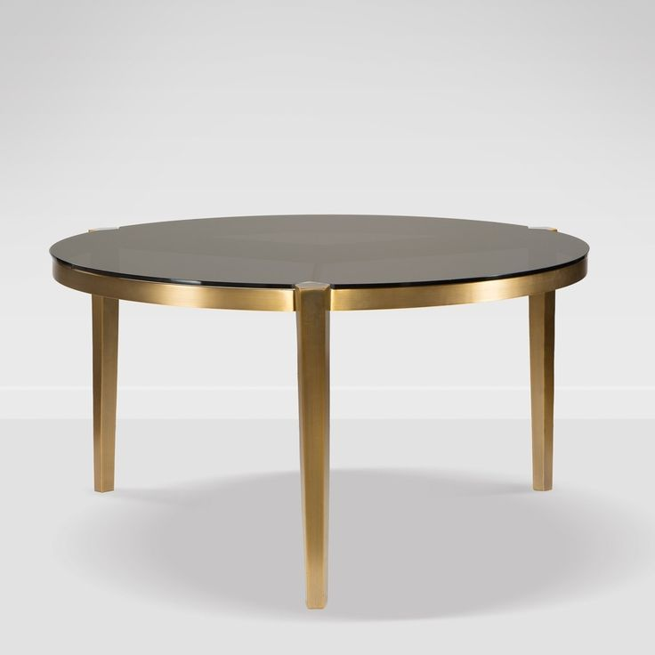 Milano Black/Gold Stainless Steel Round Dining Table, Assembly Required