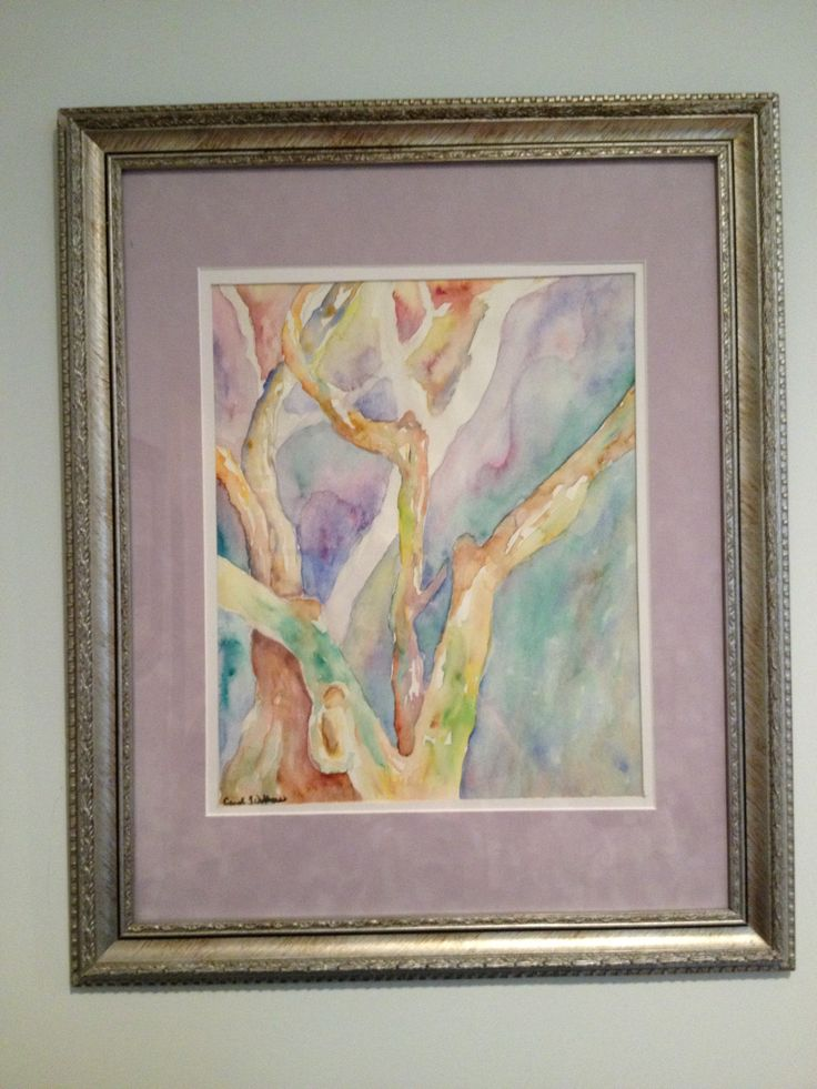 Watercolor tree by Carol Jones