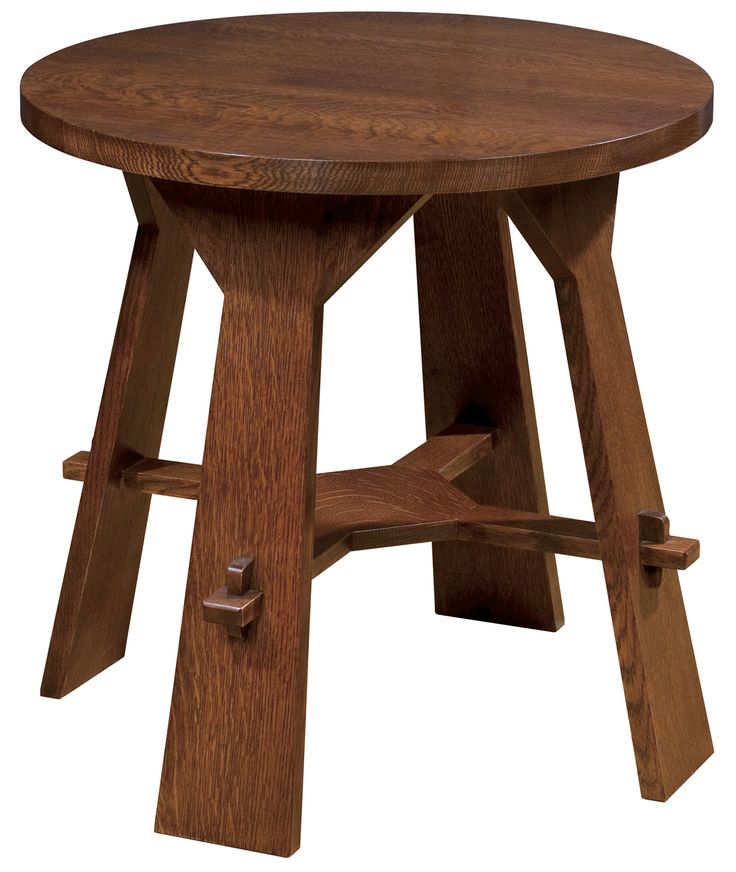 """Gus tea table 24""""h 24"""" diameter Library in the turret amidst the window seats STICKLEY - Collector Quality Furniture Since 1900"""