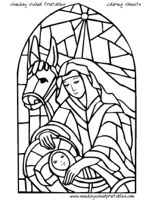 17 best images about christmas printables on pinterest for Christmas stained glass coloring page