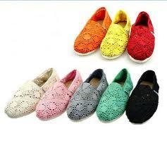 Lace Toms Shoes $26 - so cute
