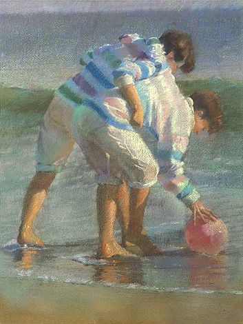 Sally Strand: Seascape, Sallystrand, Pastel Painting