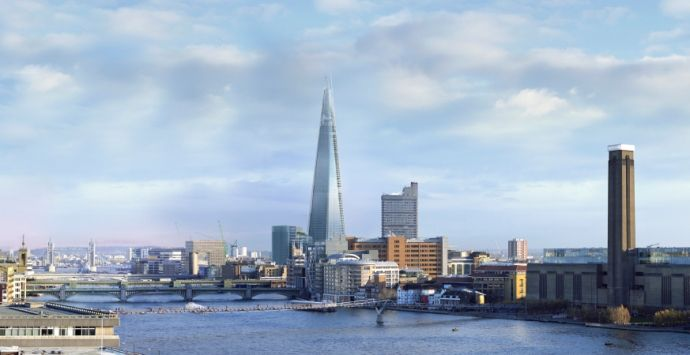The Shard at London Bridge, London, United Kingdom. AECOM's Program, Cost, Consultancy team was appointed as cost consultant for The Shard, Europe's tallest building.