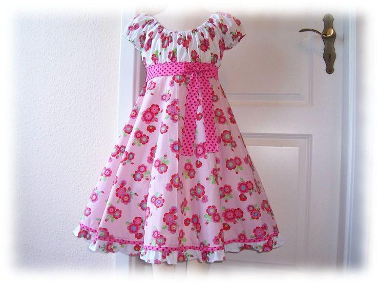Kleid Elodie * Carmenkleid Empire Einschulung  von Emiliestern auf DaWanda.com