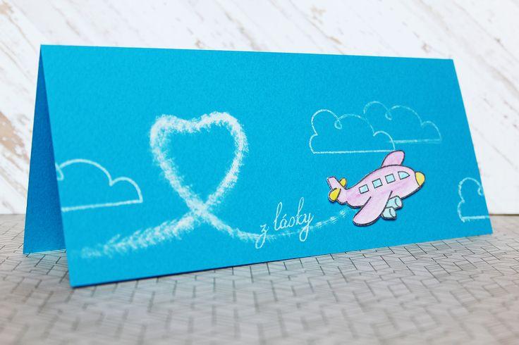 """card from love by alsine design 2014  Lawn Fawn - Bon voyage, razítka """"přání"""" od Papero amo, PRIMA MARKETING - Chalk edger - WHITE"""