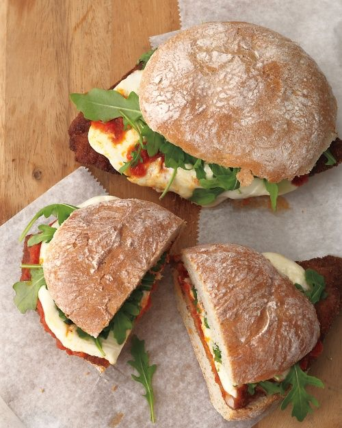 Italian Pork Sandwiches - Everyday Food Recipes    Just made this for dinner, sans bread, with asparagus. It was yummy, and REALLY quick. Cleanup took longer :)