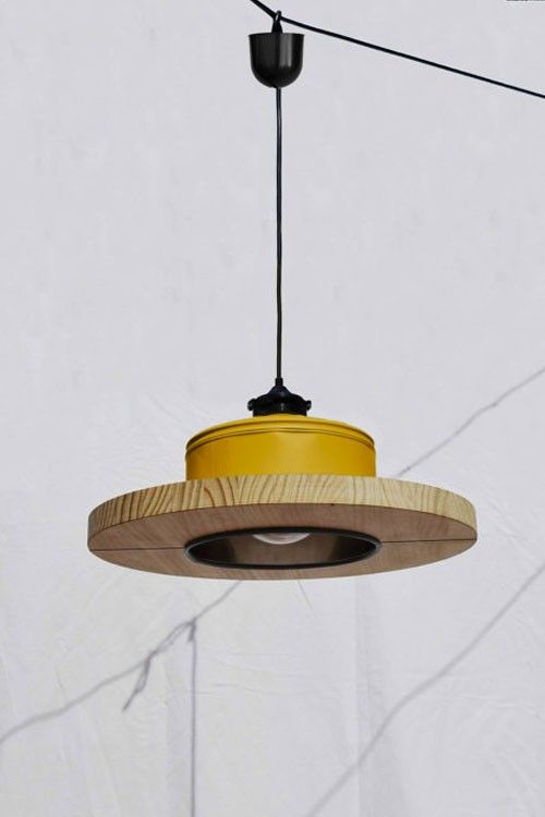 #Upcycled lighting offers food for thought