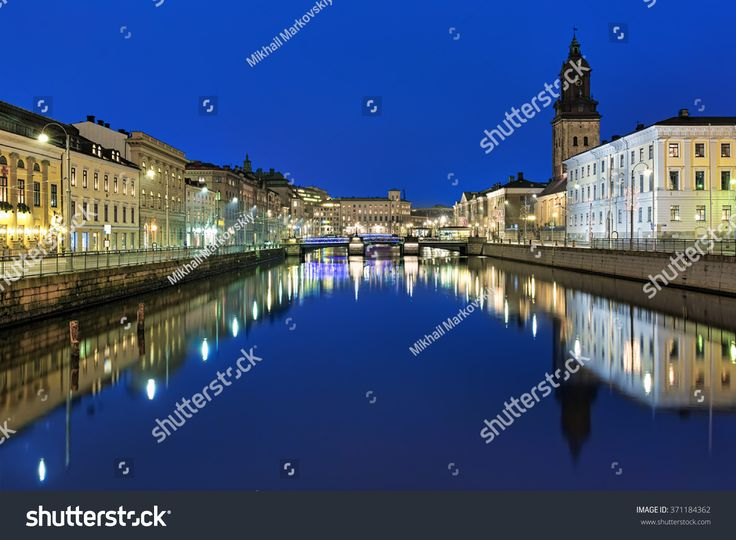 Evening view of the Big Harbor Canal and German Ch…