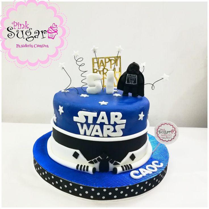 Torta decorada en fondant Star Wars
