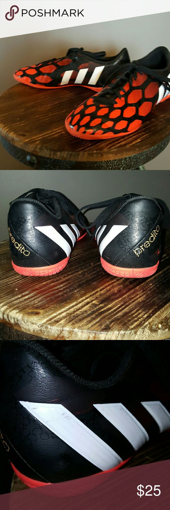 Adidas Predito Indoor Soccer Shoes Mens indoor soccer shoes, only worn for 1 indoor session.  Few minor scuffs that are hardly noticeable but still in great condition. Adidas Shoes