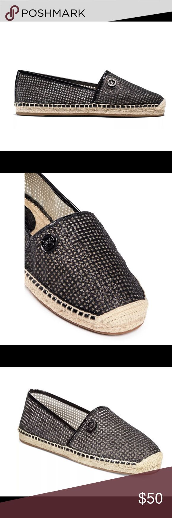 Michael Kors Kendrick Glitter Espadrilles Michael Kors Glitter Espadrilles in Black - New -box not included.  Round closed toe flats - mesh upper - rubber sole. Perfect for spring and summer! Michael Kors Shoes Espadrilles
