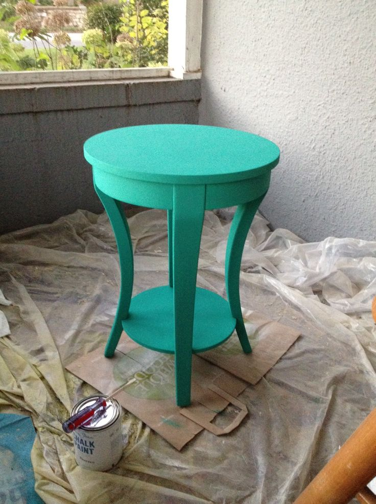 Going to find some cheap stools this summer and spray paint them bright colors for my room next year :)