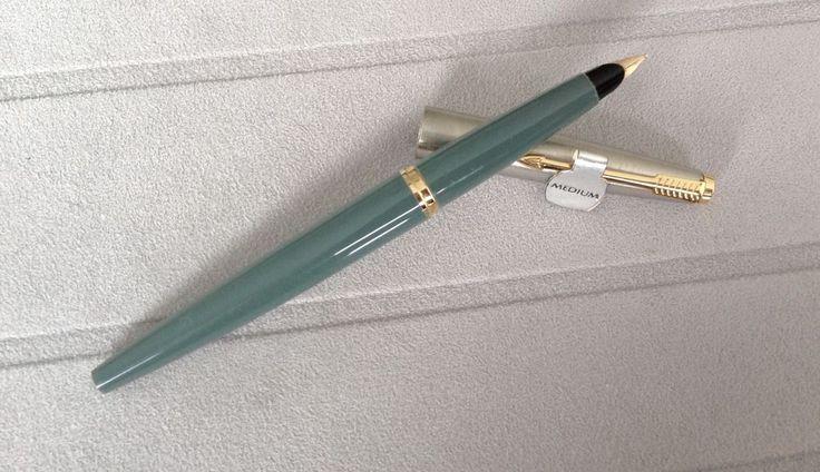 Parker 45 vintage pen,NEW old pen (apprx. yrs 1960-70)Gray, medium 10k gold nib. | eBay