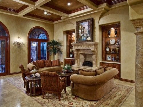 Lovely Tuscan Style Living Room