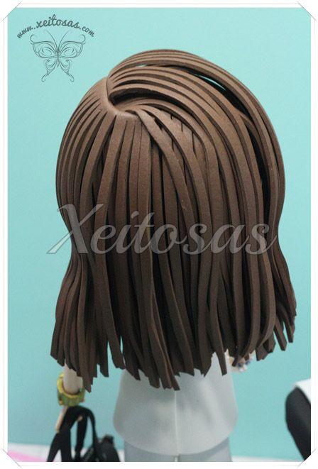 111 best images about peinados fofuchas on pinterest - Trabajos en goma eva ...
