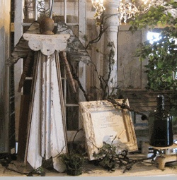 Large Garden Angel from Recycled Salvage