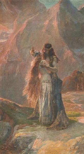 L'Adieu à Wotan, 1895, huile sur toile, 300 x 180 cm, Musée des Ursulines, Mâcon