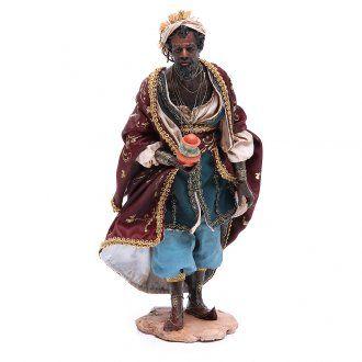 Heiliger König Tripi Angela schwarz 30 cm gebrannter Ton | Online Verfauf auf…
